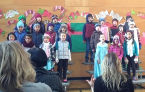 My other daughter performing with her class.