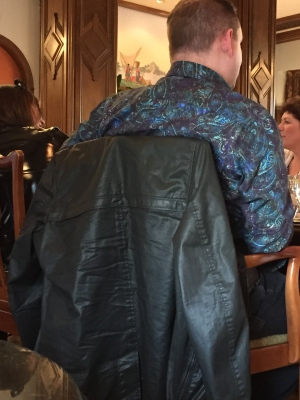 This guy went out to dinner in the '80's with his paisley shirt