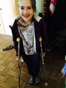 You seem suspiciously too happy about having crutches